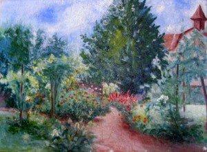 non signé ce magnifique jardin sur carton ! dans illustration DSCN5505-300x220