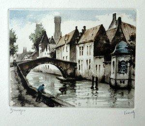 gravure Bruges