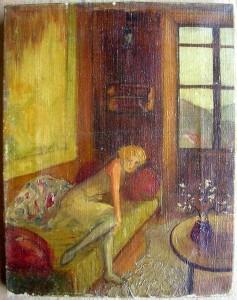 Femme assise sur canapé - dans illustration femme-sur-canape-237x300