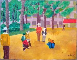 Une place avec des personnages. Ch. Roulot (à confirmer) dans illustration ch-roulot-placeavec-personnages-300x232