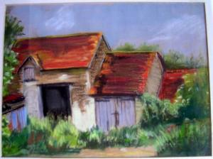Grange au pastel non signée dans illustration grange-pastel-non-signee-300x224