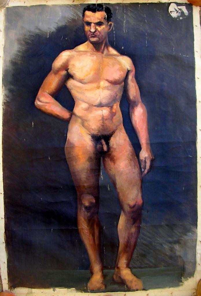 Peinture académique - homme nu - Cazanave ? dans illustration cazenave-homme-nu