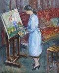 Gisèle au chevalet, mars 1958 de Charles Camoin (1879-1965)