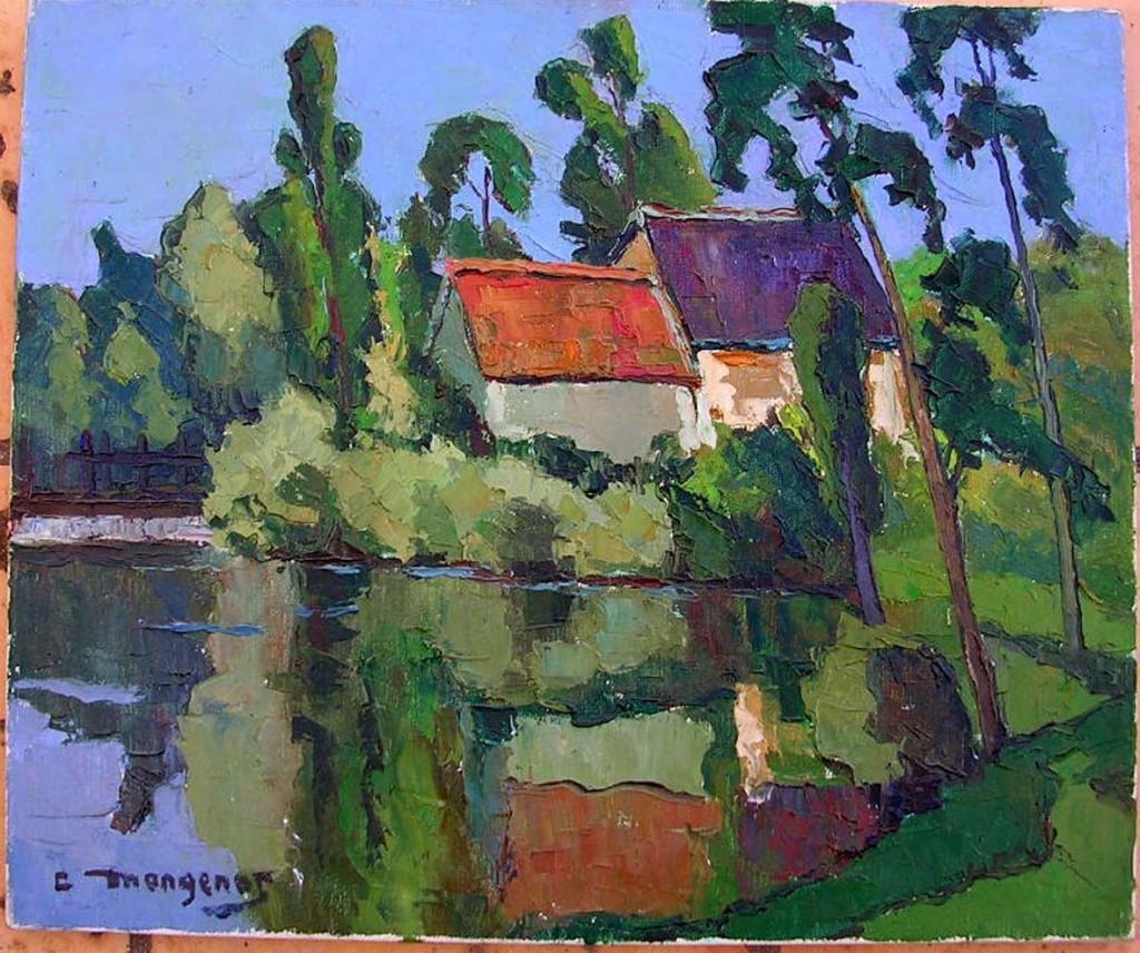 Emile Mangenot (1910-1991) Peintre figuratif - Moulin de Carchamp - Artiste coté AKOUN dans illustration mangenot-moulin-de-carchamp1