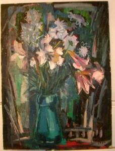 bouquet de fleur signé liotard 1964