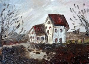 les deux maisons aux toits rouges