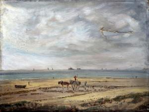 charette sur la plage