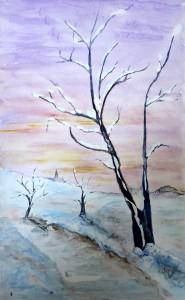 arbre et neige 1