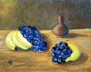 Raisins et bananes