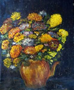 bouquet signé P.M