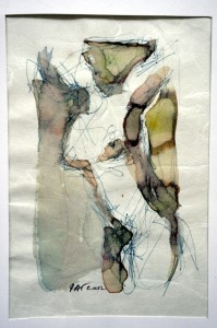 buste aquarelle 2002