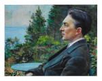 Portrait de J.M. Claveau, peint par M. Mercadier 1919