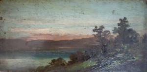 paysage sur bois