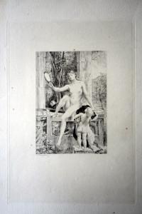 La vérité gravure par Antoine DEZARROIS d'après une peinture de paul Baudry (1828-1901)