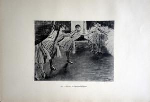 108 - Edgar Degas (1834 - 1917) La répétition au foyer