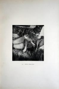 110 - Edgar Degas (1834 - 1917) Femme lisant