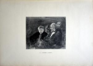 23 - Honoré  Daumier (1808 - 1879) Au théâtre
