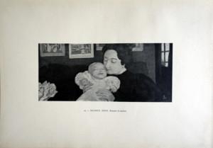24 - Maurice Denis (1870 - 1943) Femme et enfant