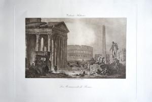 27 - Hubert Robert (1733 - 1808) Les Monuments de Rome