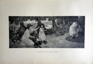 28 - Georges D'Espagnat (1870 - 1950) Vallée de la Seine; la Terrasse