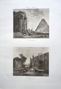 29 30 - Hubert Robert (1733 - 1808) L'Accident et l'Abreuvoir