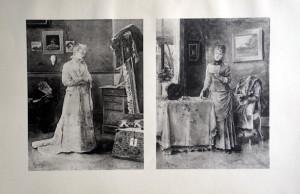43 44 - Alfred Stevens (1823 - 1906) Le tableau et la lettre