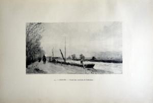 43 - Albert Lebourg (1849 - 1928) Canal aux environs de Schiedam