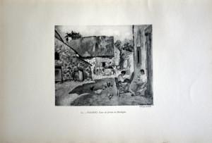 61 - Camille Pissarro (1830 - 1903) Cour de ferme en Bretagne