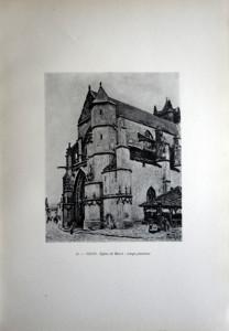78 - Alfred Sisley (1839 -1899) Eglise de Moret; temps pluvieux