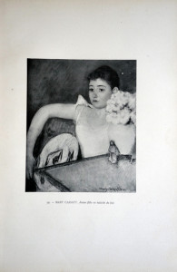 99 - Mary Cassatt (1844 - 1926 ) Jeune fille en toilette de bal