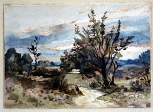 aquarelle paysage 12.5x17.5