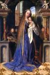 La vierge et l'enfant jésus adorés par les anges Hans Hemling