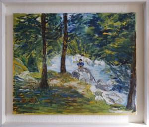 toile titre SAM peint par Mano (format 38 x 46)