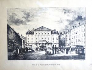 vue de la place des célestins en 1831