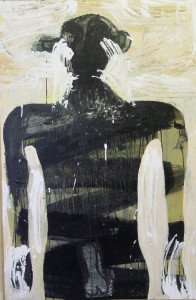 Homme 2 - Acrylique sur Kraft marouflé sur bois (format 120x80)