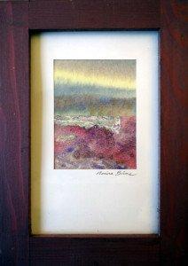 Lande matinale (format 7.5 x5.5) signée Marina Brême Londres