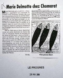 Le Progres 2000 - Marie Delmotte chez Chomarat