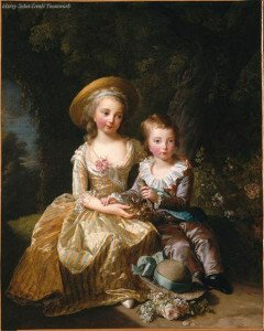 """ Marie-Thérèse-Charlotte de France and her Brother le Dauphin Louis-Joseph-Xavier by Elisabeth Louise Vigée-Le Brun "" A copy of this painting (by Lebrun!)"
