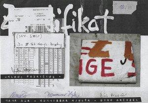 Document (format 20x28) numéroté 10 sur 88 et signé en original par Klaus Fabricius, Mama Bär, Kommissar Hjuler et Dirk Brenzel