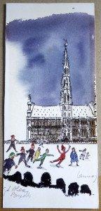 print signé crayon (format 20 x 9)
