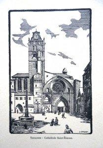 TOULOUSE - Cathérale Saint-Etienne (format 16.5 x 11)