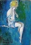 Chagrin d'amour huile sur toile  33 x 24 cm (1962)