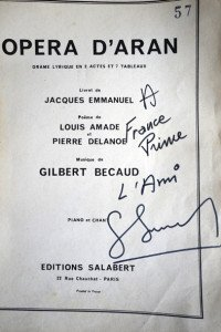 dédicace de Gilbert Bécaud