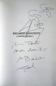 dédicace Joël Montigny sur Contes Cruels de JM Lambert
