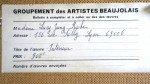 étiquette Groupement des artistes Beaujolais