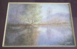 papier - L'étang et son mystère - Format 18 x 24