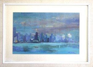 sur papier acrylique format peinture 28.5 x 34.5