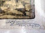 détails signatures dans la planche et en marge