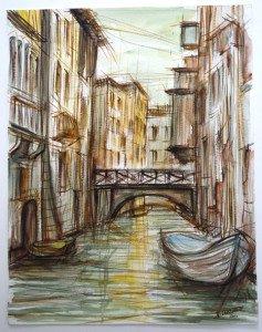 aquarelle papier - format 38 x 29.5 signée daté 2000