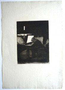 gravure sur papier d'arches format 43.5x30.5 bassin 21.7x16.3 - date et signature dans la planche